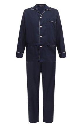 Мужская хлопковая пижама DEREK ROSE темно-синего цвета, арт. 5005-L0MB006 | Фото 1