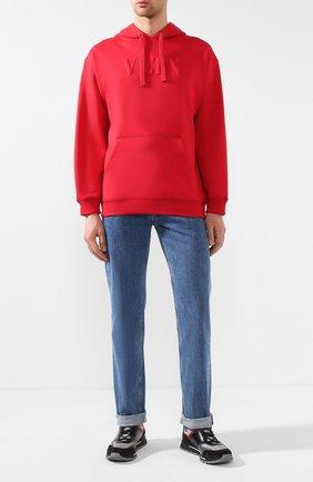 Мужской хлопковое худи VALENTINO красного цвета, арт. RV3MF00QTZE | Фото 2