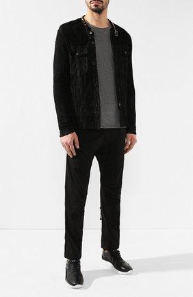 Мужская кожаная куртка GIORGIO BRATO черного цвета, арт. GU19S9015VBIS   Фото 2 (Рукава: Длинные; Длина (верхняя одежда): Короткие; Мужское Кросс-КТ: Куртка-верхняя одежда, Кожа и замша, Верхняя одежда; Статус проверки: Проверено; Кросс-КТ: Куртка)