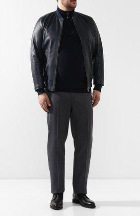 Мужской джемпер из смеси шерсти и шелка BILLIONAIRE темно-синего цвета, арт. B19C MK00481 BKN001N   Фото 2