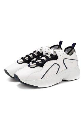 Мужские кожаные кроссовки rockaway ACNE STUDIOS белого цвета, арт. BD0002 | Фото 1