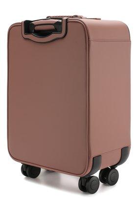 Кожаный дорожный чемодан на колесиках   Фото №2