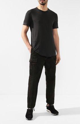 Мужские хлопковые брюки карго RRL хаки цвета, арт. 782726031 | Фото 2 (Длина (брюки, джинсы): Стандартные; Статус проверки: Проверено; Материал внешний: Хлопок; Силуэт М (брюки): Карго; Случай: Повседневный)