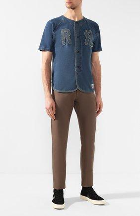 Мужская джинсовая рубашка RRL синего цвета, арт. 782726304 | Фото 2