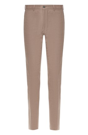 Мужские шерстяные брюки ZILLI светло-коричневого цвета, арт. M0R-40-38N-56031/0001   Фото 1