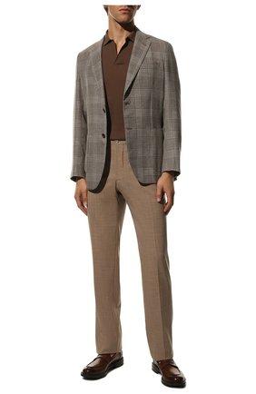 Мужские шерстяные брюки ZILLI светло-коричневого цвета, арт. M0R-40-38N-56031/0001   Фото 2