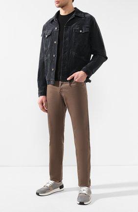 Мужские текстильные кеды BOTTEGA VENETA серого цвета, арт. 548339/VBN71 | Фото 2