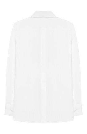 Детская хлопковая рубашка DOLCE & GABBANA белого цвета, арт. L42S56/FU5GK/2-6 | Фото 2 (Материал внешний: Хлопок; Статус проверки: Проверена категория; Рукава: Длинные; Принт: Без принта; Случай: Формальный; Стили: Классический; Ростовка одежда: 2 года | 92 см, 3 года | 98 см, 4 года | 104 см, 5 лет | 110 см, 6 лет | 116 см)