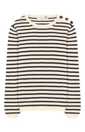 Детский хлопковый пуловер DAL LAGO бежевого цвета, арт. W503/8645/7-XS | Фото 1