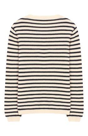 Детский хлопковый пуловер DAL LAGO бежевого цвета, арт. W503/8645/7-XS | Фото 2