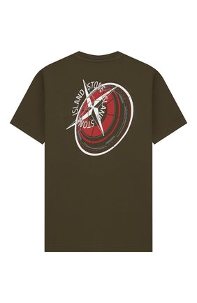 Детская хлопковая футболка STONE ISLAND хаки цвета, арт. 701621452/10-14 | Фото 2