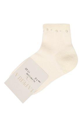 Детские хлопковые носки LA PERLA бежевого цвета, арт. 42045/1-2 | Фото 1
