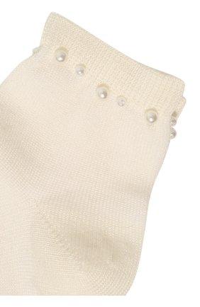 Детские хлопковые носки LA PERLA бежевого цвета, арт. 42045/1-2 | Фото 2
