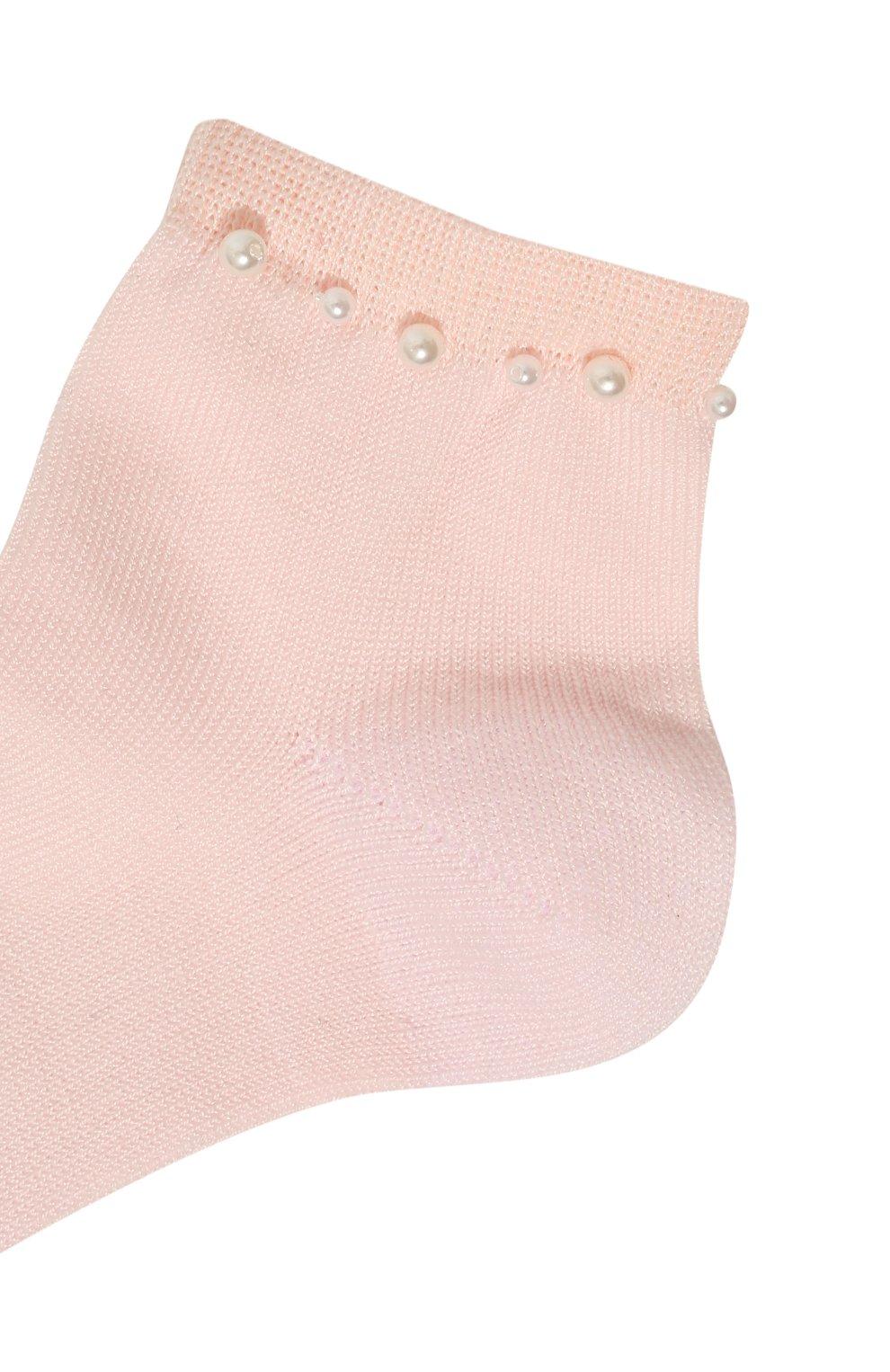 Детские хлопковые носки LA PERLA розового цвета, арт. 42045/3-6   Фото 2 (Материал: Текстиль, Хлопок; Статус проверки: Проверена категория)