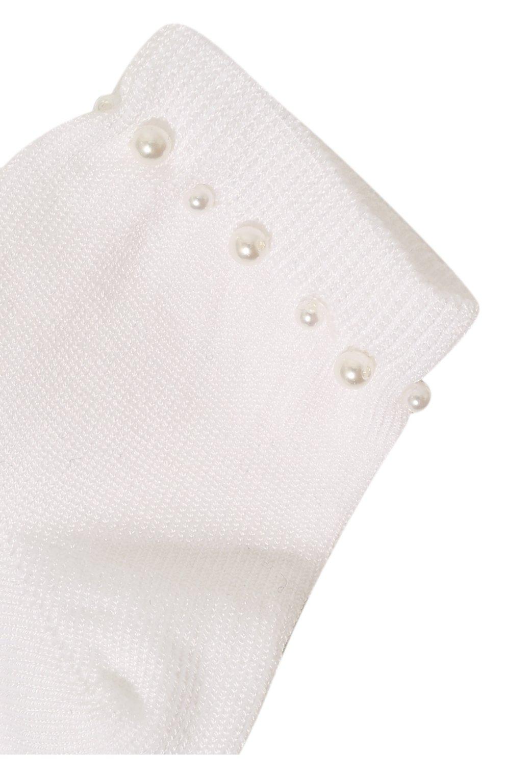 Детские хлопковые носки LA PERLA белого цвета, арт. 42045/3-6 | Фото 2 (Материал: Текстиль, Хлопок; Статус проверки: Проверена категория)