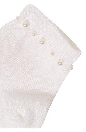 Детские хлопковые носки LA PERLA белого цвета, арт. 42045/3-6 | Фото 2