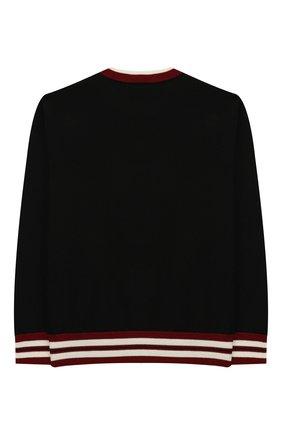 Детский шерстяной пуловер DOLCE & GABBANA черного цвета, арт. L4KW25/JAVLX/2-6   Фото 2
