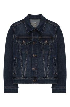 Детская джинсовая куртка POLO RALPH LAUREN синего цвета, арт. 313698662 | Фото 1