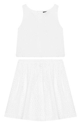 Комплект из хлопковой юбки и топа | Фото №1