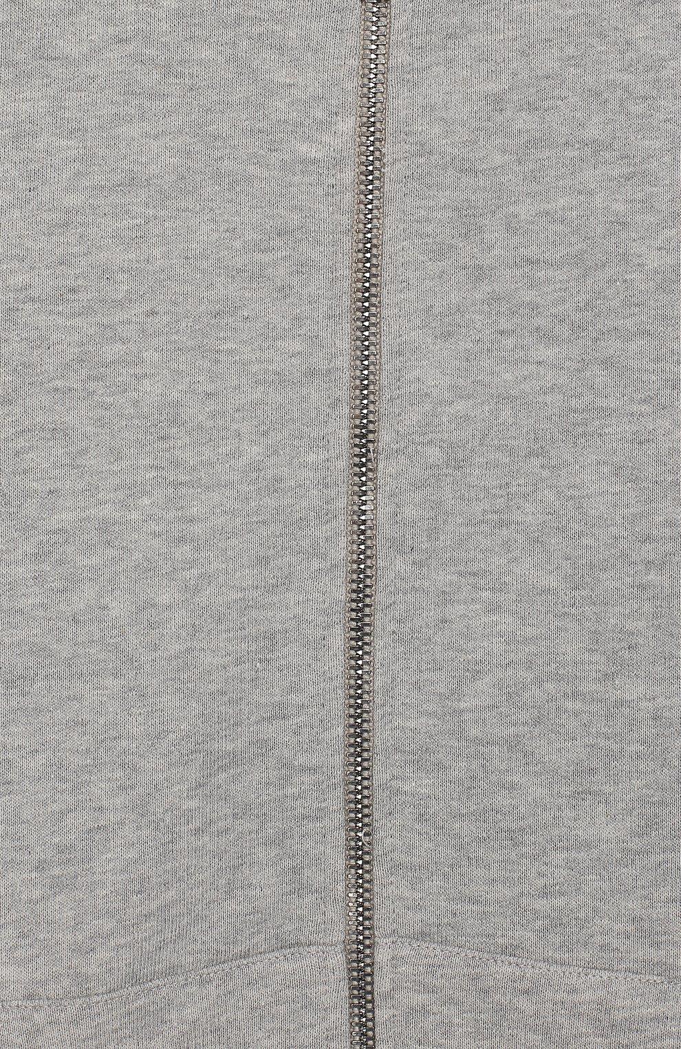 Детский хлопковый кардиган с капюшоном GUCCI серого цвета, арт. 540648/X9L54 | Фото 3 (Рукава: Длинные; Мальчики Кросс-КТ: Толстовка-спорт; Материал внешний: Хлопок; Статус проверки: Проверено; Ростовка одежда: 10 - 11 лет | 140 - 146см, 12 лет | 152 см, 4 года | 104 см, 5 лет | 110 см, 6 лет | 116 см, 8 лет | 128 см)