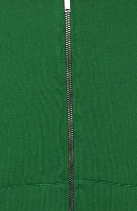 Детский хлопковый кардиган с капюшоном GUCCI зеленого цвета, арт. 540648/X9L54   Фото 3 (Рукава: Длинные; Мальчики Кросс-КТ: Толстовка-спорт; Материал внешний: Хлопок; Статус проверки: Проверено; Ростовка одежда: 10 - 11 лет   140 - 146см, 12 лет   152 см, 4 года   104 см, 5 лет   110 см, 6 лет   116 см, 8 лет   128 см)