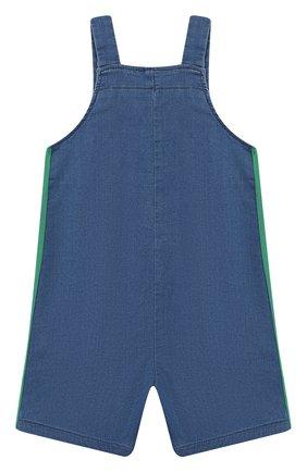 Детский хлопковый комбинезон GUCCI синего цвета, арт. 547190/XJAHD | Фото 2