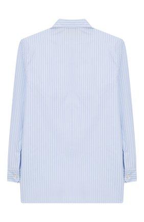 Детская хлопковая рубашка GUCCI голубого цвета, арт. 547822/XWABW | Фото 2