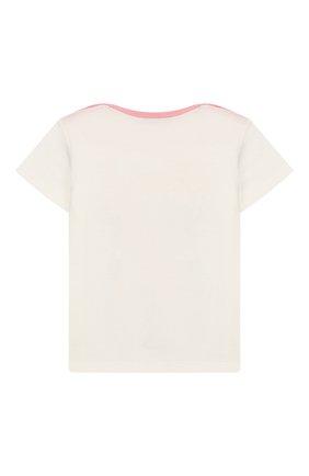 Детский хлопковая футболка GUCCI белого цвета, арт. 555676/XJAPV | Фото 2