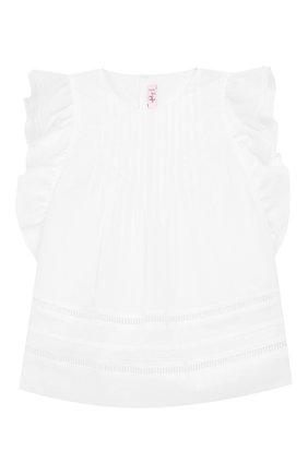Хлопковая блузка без рукавов | Фото №1