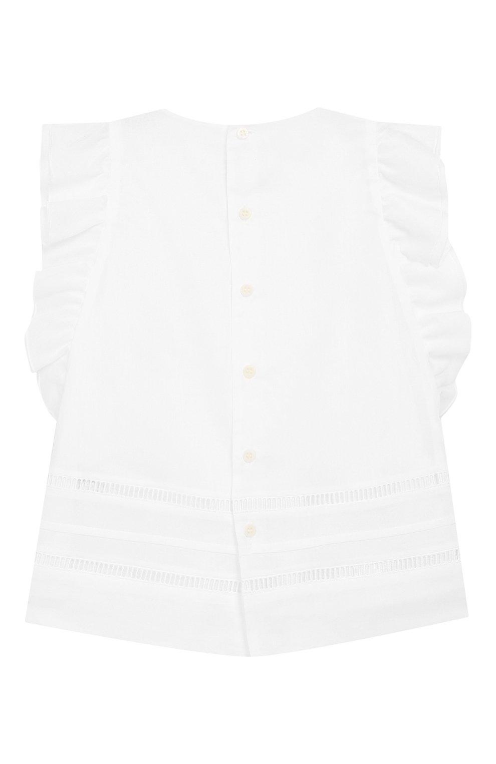 Хлопковая блузка без рукавов | Фото №2