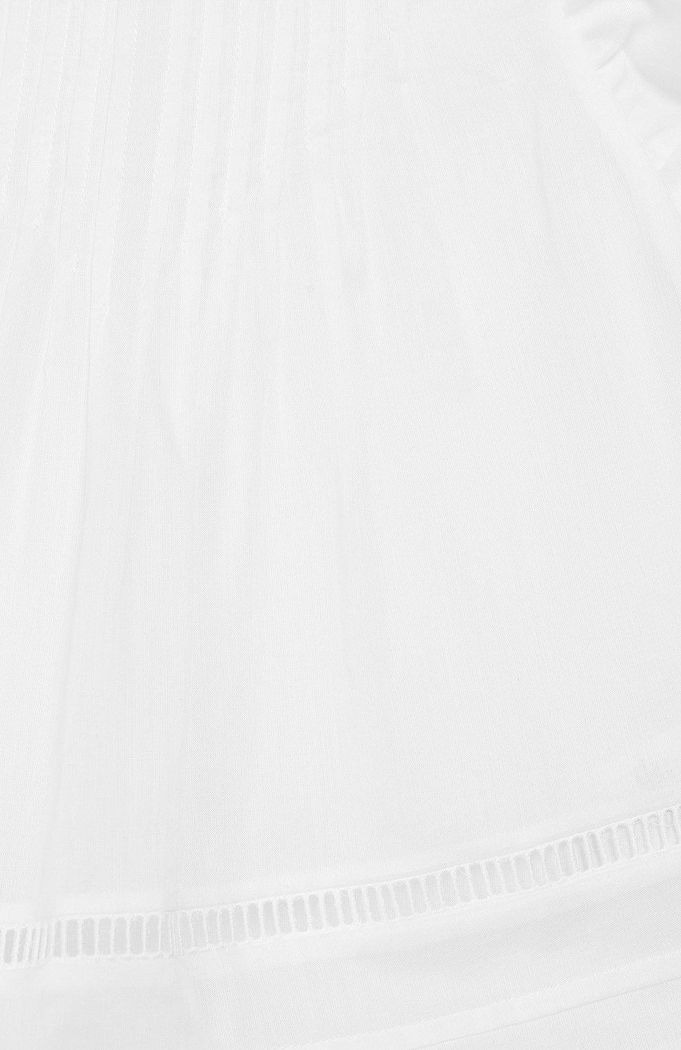 Хлопковая блузка без рукавов | Фото №3