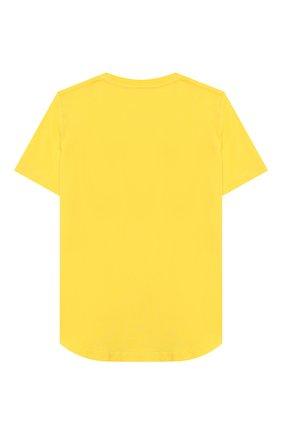 Детская хлопковая футболка DSQUARED2 желтого цвета, арт. DQ02M8-D00MR | Фото 2