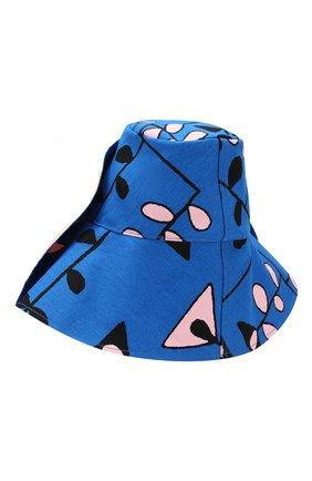 Хлопковая шляпа Marni синего цвета | Фото №2