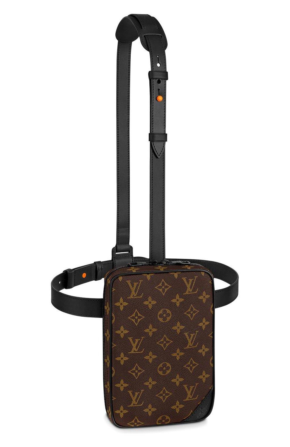 75206bc6b5b8 Мужская коричневая кожаная поясная сумка utility LOUIS VUITTON ...