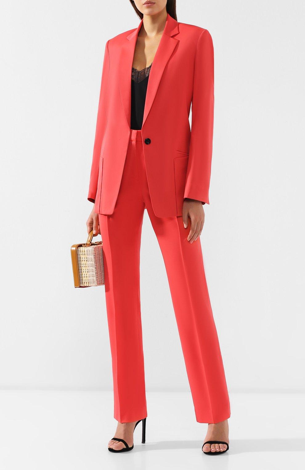 Шерстяные брюки Dorothee Schumacher коралловые | Фото №2