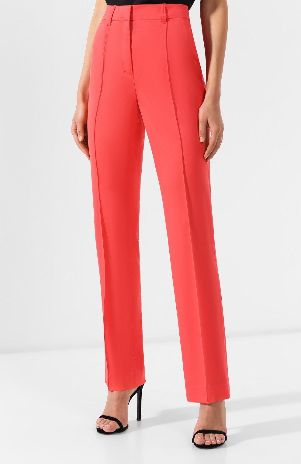 Шерстяные брюки Dorothee Schumacher коралловые | Фото №3