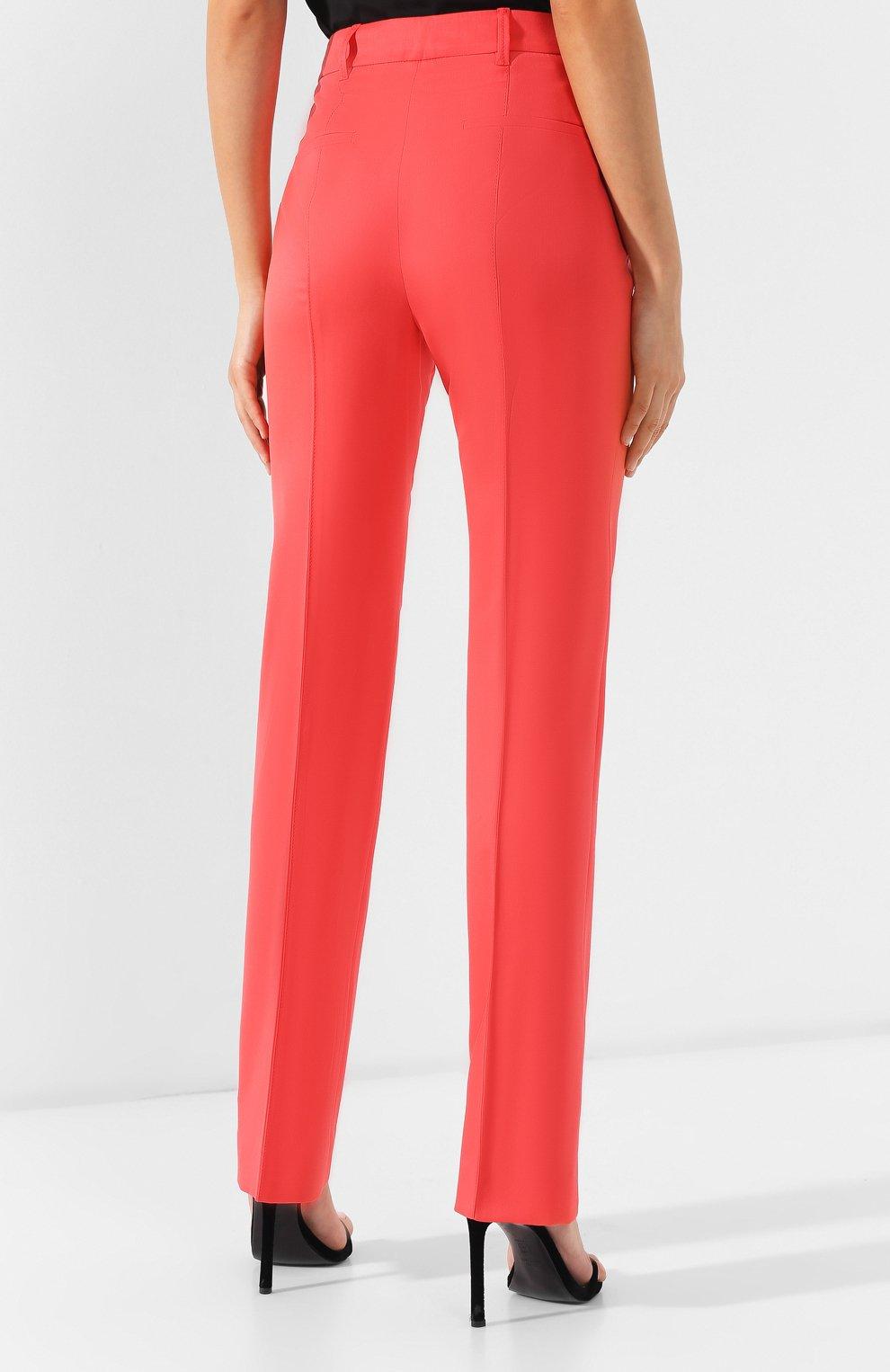Шерстяные брюки Dorothee Schumacher коралловые | Фото №4