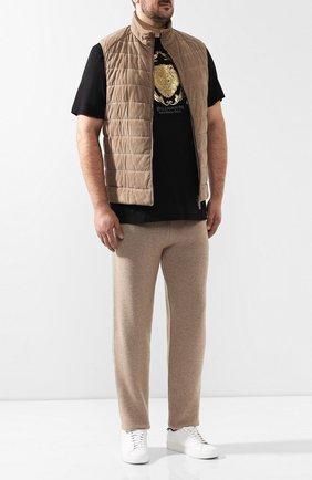 Мужской брюки из кашемира BOTTEGA VENETA бежевого цвета, арт. 541565/VEX90   Фото 2