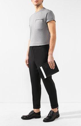 Мужская текстильный клатч skid BALLY черного цвета, арт. SKID.0F/00 | Фото 2