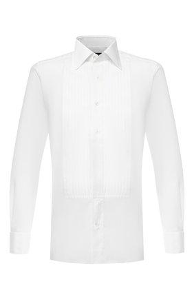 Мужская хлопковая сорочка  TOM FORD белого цвета, арт. 5FT287/94SIJE   Фото 1