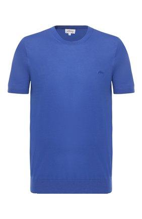 Мужская хлопковая футболка BRIONI синего цвета, арт. UMR00L/P8K34 | Фото 1