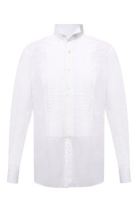 Мужская хлопковая рубашка TOM FORD белого цвета, арт. 5FT287/94C8CR   Фото 1