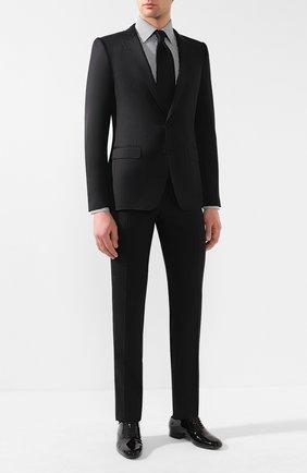 Мужская хлопковая рубашка TOM FORD черно-белого цвета, арт. 5FT600/94S1JE | Фото 2