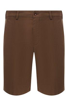 Мужские хлопковые шорты LORO PIANA коричневого цвета, арт. FAE8348 | Фото 1