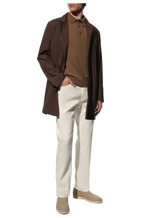 Мужской брюки из смеси льна и хлопка LORO PIANA белого цвета, арт. FAI1646 | Фото 2
