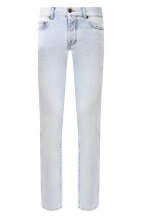 Мужские джинсы прямого кроя SAINT LAURENT голубого цвета, арт. 551355/YB966 | Фото 1