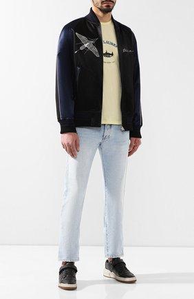 Мужские кожаные кеды SAINT LAURENT черного цвета, арт. 557624/04L10 | Фото 2