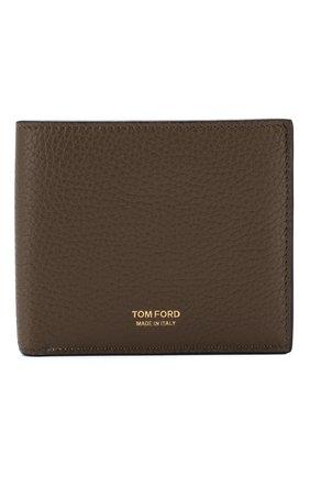 Мужской кожаное портмоне TOM FORD хаки цвета, арт. Y0228T-CS4 | Фото 1