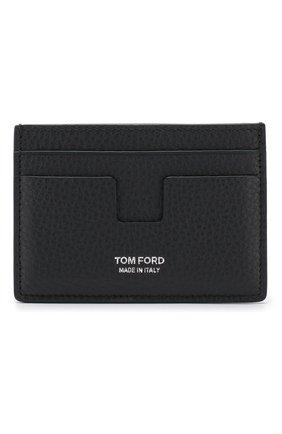 Мужской кожаный футляр для кредитных карт TOM FORD темно-синего цвета, арт. Y0232P-CP9 | Фото 1