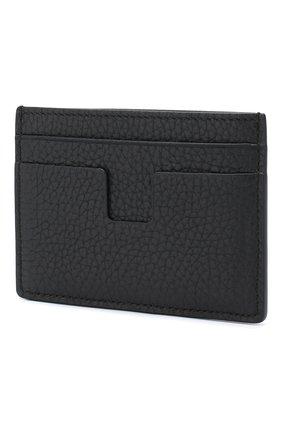 Мужской кожаный футляр для кредитных карт TOM FORD темно-синего цвета, арт. Y0232P-CP9 | Фото 2